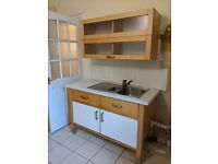 Ikea freestanding kitchen units and oven
