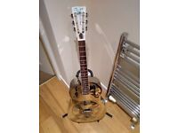 Ozark 3615 Deluxe resonator acoustic guitar with case