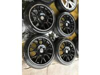 "18"" BBS MK5 GOLF PASSAT SHARAN A3 A4 A5 SET OF 4"