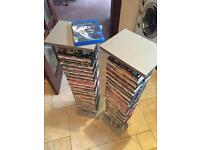 "2 DVDs (Stand Over 37"" Tall) + 80 DVDs - See All Photos"