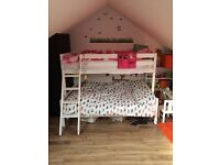 Triple sleeper bunk bed in white *GREAT CONDITION* £100