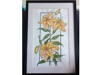 Original painting of Lilies by Heidi Walmsley
