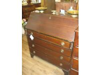 ANTIQUE EDWARDIAN BUREAU. MANY FEATURES