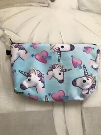 Unicorn make up bag/pencil case.