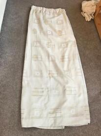 £10 Sand pencil pleat curtains