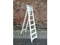 Vintage Shabby Chic Wooden Ladders (x2) Wedding or Other Decoration