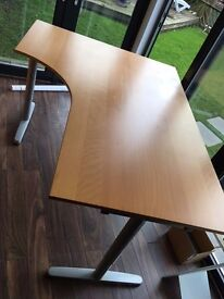 2 x IKEA Galant corner desk beech colour, used - buyer collects BN1