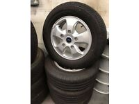 16 INCH FORD TRANSIT ALLOY WHEELS .