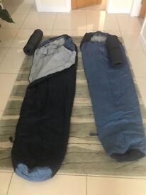 Sleeping Bags x 2 with ground mats
