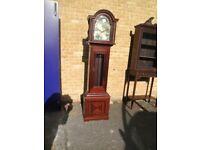 Beautiful Denclock Danish Mahogany Longcase Grandfather Clock With Westminster Chimes 3 weights