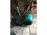 Electric lawn mower and strimmer