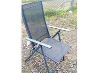 Black mesh Patio/ Sun / chairs / brand new