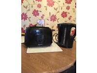 Signature black toaster and kettle