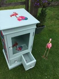 Stunning flamingo cabinet