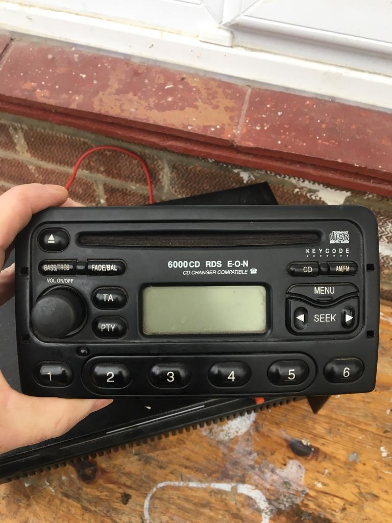 Ford radio with code