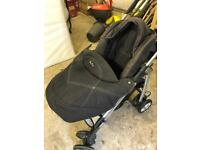 Silver cross buggy with cosy toes and rain cover