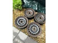 15in VW steel wheels (Volkwagen, Audi, Seat, Skoda, Golf, Leon, A3, Caddy, Jetta)