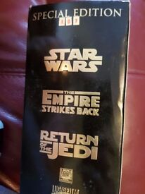 Star Wars Trilogy Video tapes