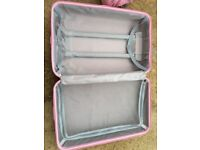 Pink hard case suitcases small and medium sized