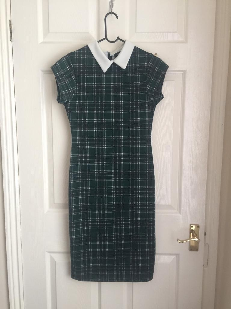 SUPERCUTE Green tartan dress Size 10