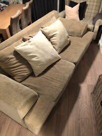 Mushroom/taupe large sofa from furniture village