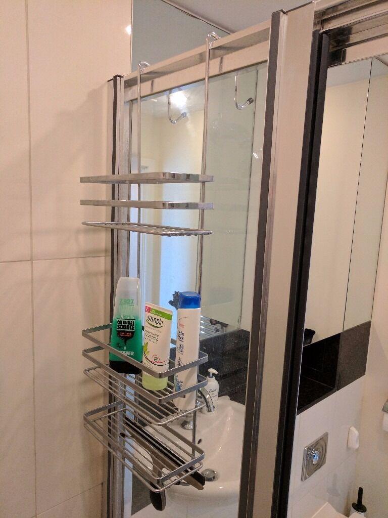 Moving sale! Satina Chrome Hanging Shower Cubicle Tidy Swedish Made ...