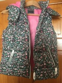Padded floral gilet age 12