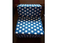 Blue fusion chair bed