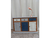 Industrial Style Multi Coloured Sideboard