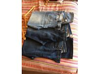 3 pairs of FatFace and Lands End Jeans uk36