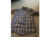 Topman checked long sleeved shirt