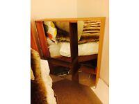 IKEA wall cabinet - wood with mirror - hallway, bedroom, bathroom