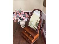 Victorian Dressing Table Mirror with three drawers.