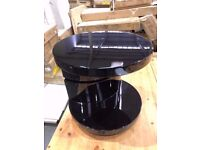 Greenapple Black Gloss Giro Lamp Table BRAND NEW Flat packed RRP £300