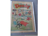 The DANDY comic Jan 9th 1965. Enclosed in a clip-on glass frame
