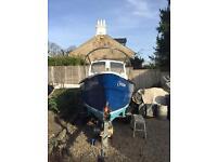 20 Hp vetus boat and trailer