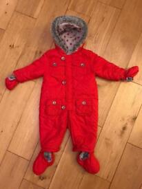MOTHERCARE outdoor snowsuit/All-in-one winter coat 6-9 months