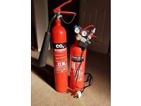 C02 Planted Aquarium Set up-2 Fire extinguishers & regulator magnetic solenoid and two value gauge