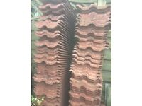 Red Roof Tiles. 120 Ridge tiles, 10 and a pack of latts for sale.