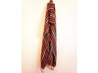 Indian Colorful Sawl Scarf with fringes, India fringed, wrap fringe