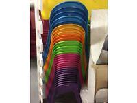 Children's kids plastic tables various colours 0-8 years