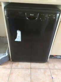 Black dishwasher