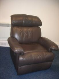 Reclining chair brown leather