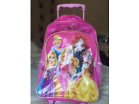 Disney Princess pink bag with wheels