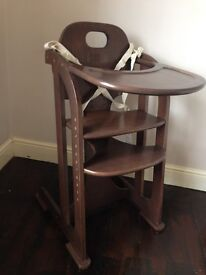 wooden high chair (2 available)