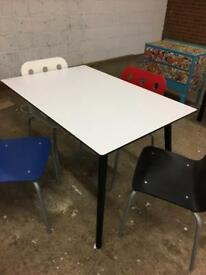 Ikea chairs and John Lewis retro table