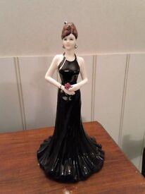 Coalport Lady Stunning in Black