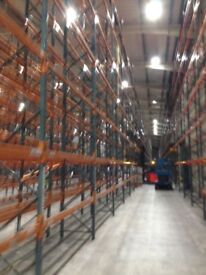 JOB LOT dexion industrial pallet racking 6m high ( storage , shelving )