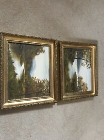 2 Terry Jahner Oil Paintings lovely pair £100