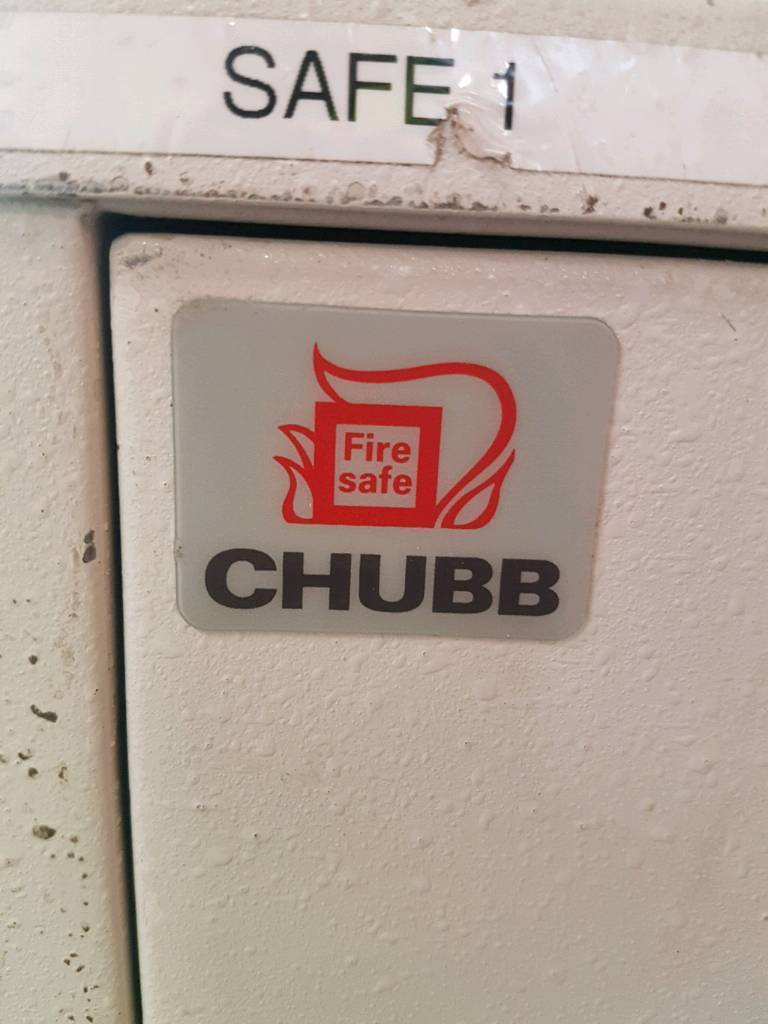 Chubb fireproof four drawer filing cabinets (3 in stock)